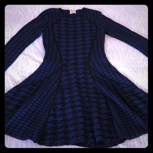 Torn by Ronny Kobo houndstooth dress